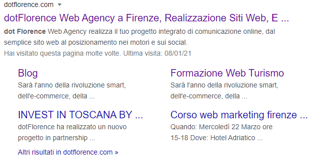 Snippets in google SERP